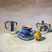 Afternoon tea, 40x40cm, Oil on linen