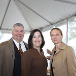 Andy Studdert and Trustee Mary Pat Studdert with Chicago Botanic Garden President and CEO Sophia Shaw. Photo by Abby McKenna.