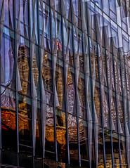 Reflection of Brooklyn Bridge photo by williamagarcia