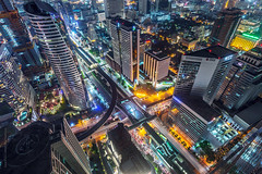 city and crossroads from above, Bangkok photo by tuanland