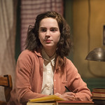 Sophie Thatcher (Anne Frank) in THE DIARY OF ANNE FRANK at Writers Theatre. Photo by Michael Brosilow.