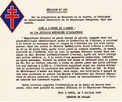 AUthion 1945 - citation 1ère DFL