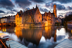Brugge at dusk photo by Loïc Lagarde