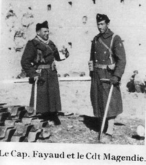 Authion- avril 1945-  capitaine Fayaud et Cdt Magendie