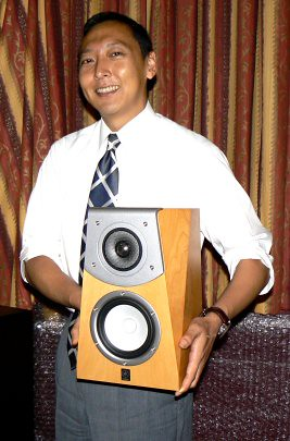 Ken Kamoshida from Yamaha holds Soavo