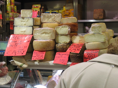 Cheeses at the Mercato Centrale, Florence