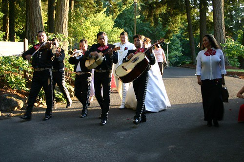 Mariachis at wedding