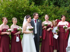 Selina & Steve with Bridesmaids