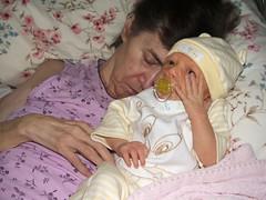 Grandma Danner and Cora