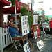 蒙馬特畫家村的畫作多以咖啡館風情為主題