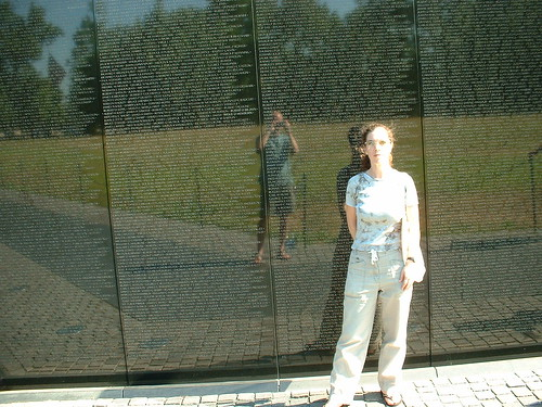 Eshinee & Rob at Vietnam Memorial