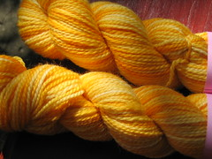 Sweet Georgia Sock Yarn in Saffron