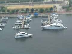 Tilt Shift Mini Fake:  Inner Harbor Ships