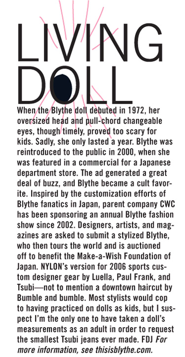 NYLON magazine's article on Blythe