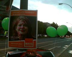 Wahlplakat von Lucy Redler, WASG
