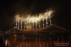 Fireworks on the Story Bridge 7