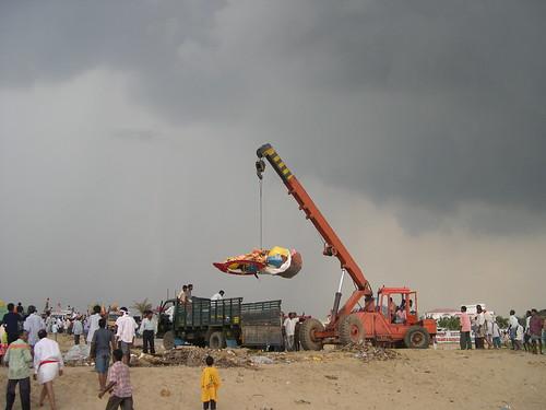 Ganapathy Immersion at Chennai on 03/09