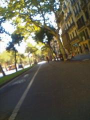 Barcelona street, blurry