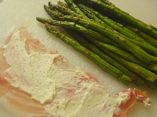 Asparagus Proscuitto Set up