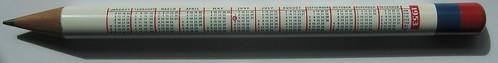 1953 Coronation Pencil - 1953 Calendar
