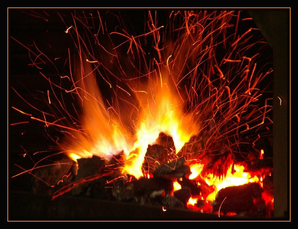 Aprendiendo de la vida fuego de asador - Chimeneas artificiales ...