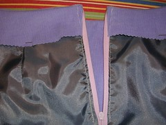 skirt zip inside
