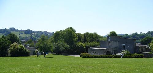 Lower and upper school across the school field