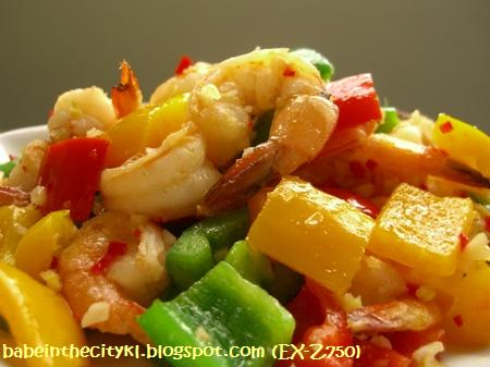 stir fry prawns with bell peppers2