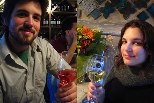 Enjoying wine at Bevovino