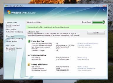 Windows Live OneCare v1.5