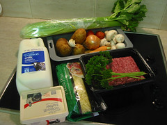 Cottage Pie: Ingredients.