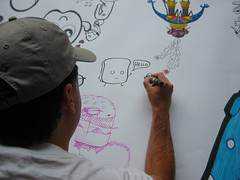 Drawing at Pictoplasma