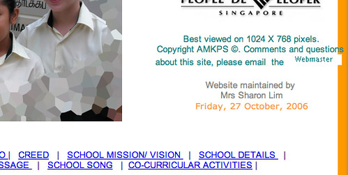 AMK Primary School archived page