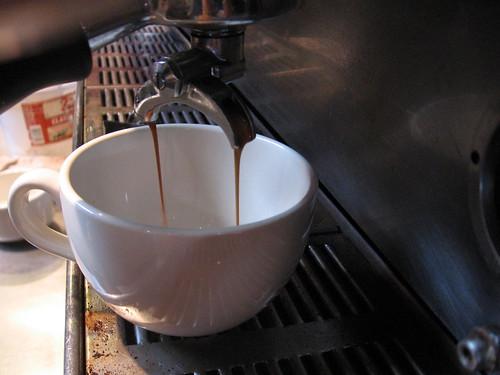 pulling an espresso