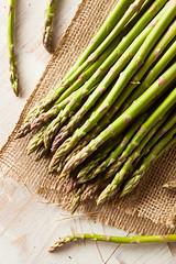 Organic Raw Green Asparagus photo by brent.hofacker