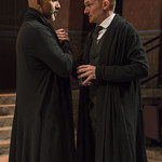 Kareem Bandealy (Brutus) and Scott Parkinson (Cassius) in JULIUS CAESAR at Writers Theatre. Photo by Michael Brosilow.