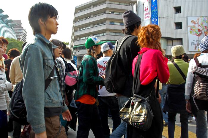 漫步在澀谷街頭