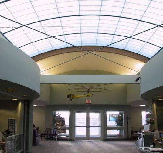 Kalwall panels, translucent insulation, daylighting, eco-friendly insulation, green insulation, insulated daylighting, nanogel, FBO facility