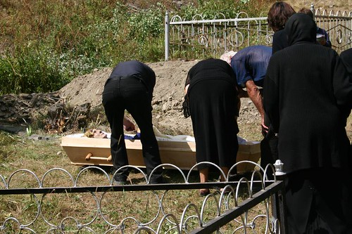 Funeral in Sno village...