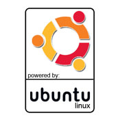 Pegatina Powered by Ubuntu