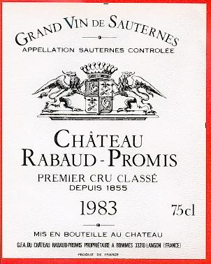 Château Rabaud-Promis, Sauternes