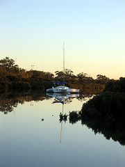 Trimaran in Cannons Creek