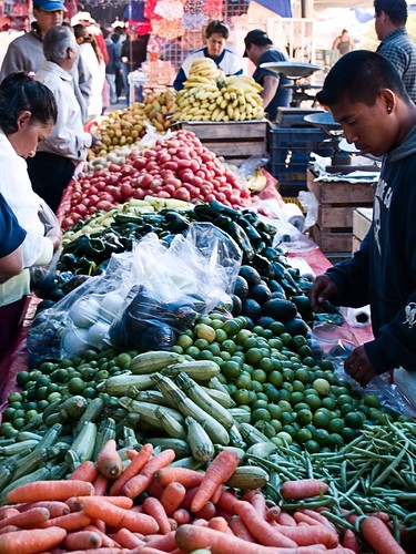 At the weekly vegetable market