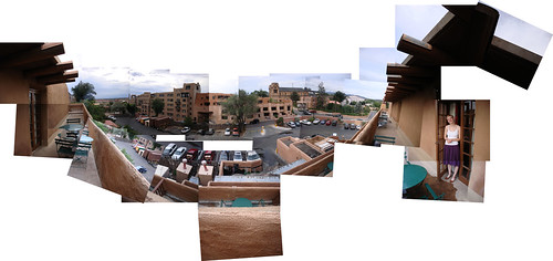 The view from our hotel room in Sante Fe