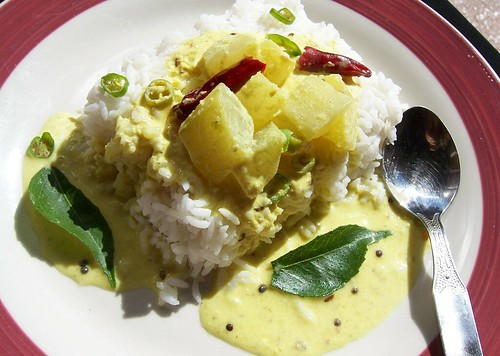 Hot Rice with Bottlegourd Majjiga Pulusu