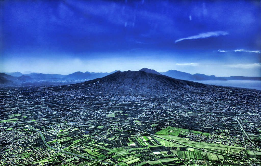 Mount Vesuvius from the Sky