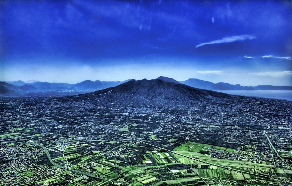Mount Vesuvius from the Sky