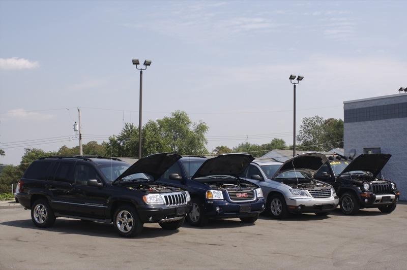 Sunbathing SUVs