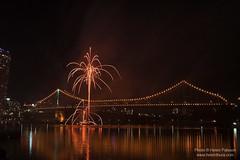 Fireworks on the Story Bridge 5
