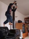 high jump by son
